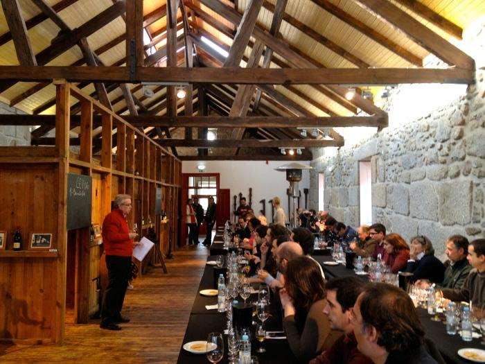 Tasting wines from Centro de Estudos Vitivinícolas do Dão (CEV)